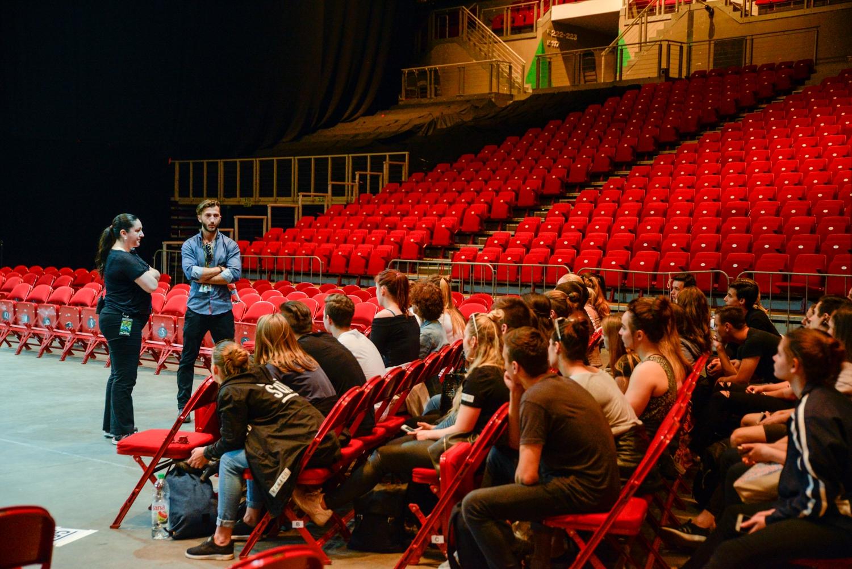 Artistaiskolások látogatása a Cirque du Soleil próbáján