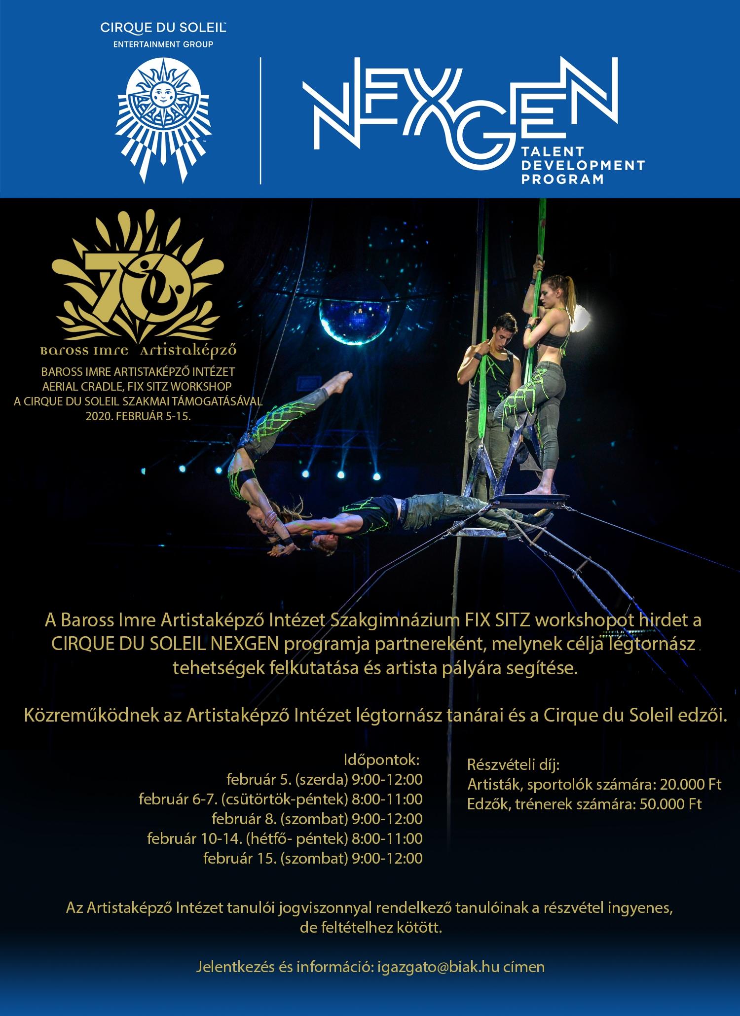 Cirque du Soleil workshop indul februárban
