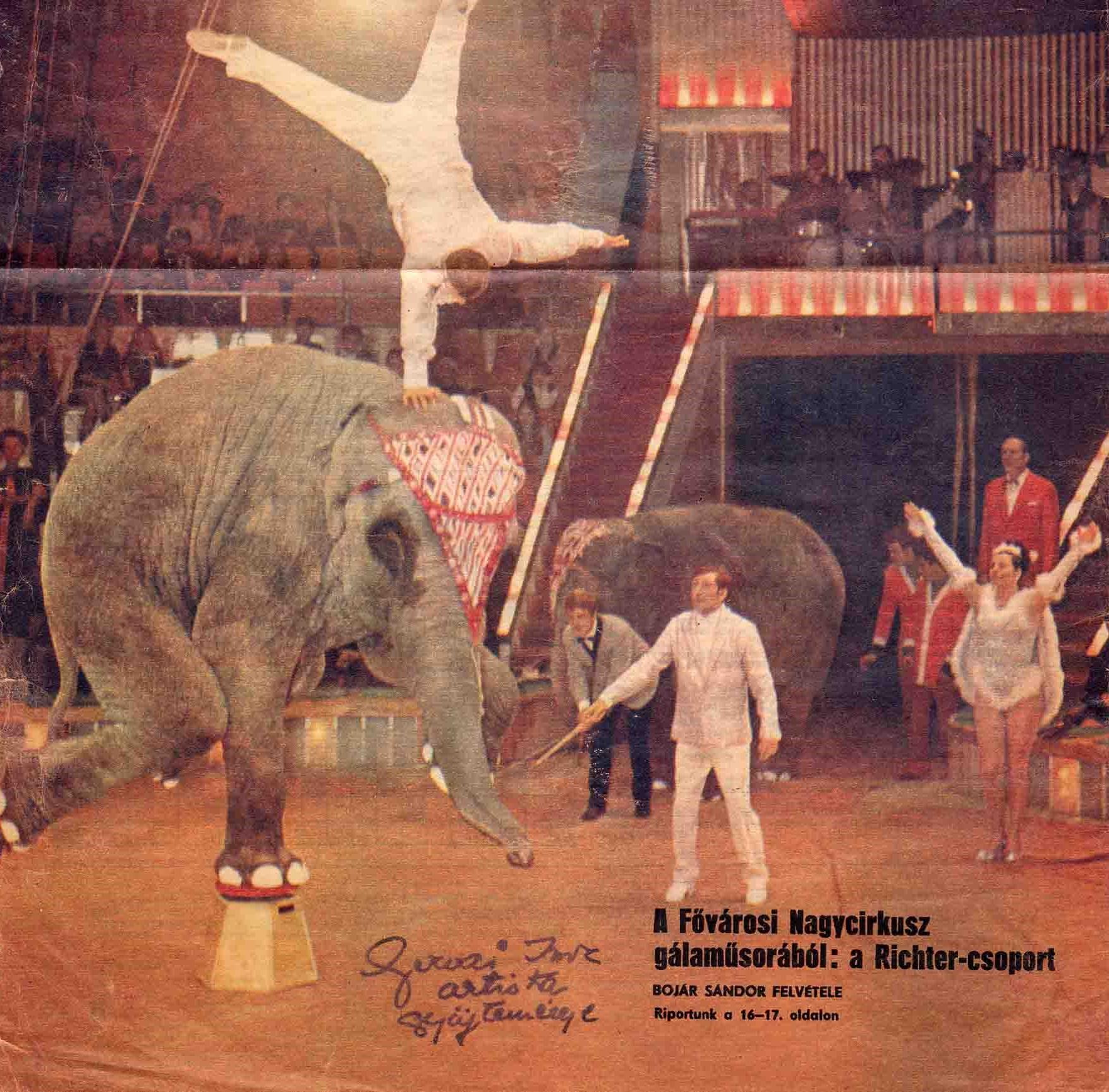 Az 1971. január 14-i gálaműsor fellépői