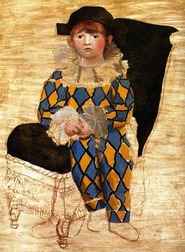 Pablo Picasso Paulo, Picasso fia, mint Pierrot