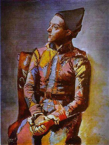 Pablo Picasso Ülő Harlequin