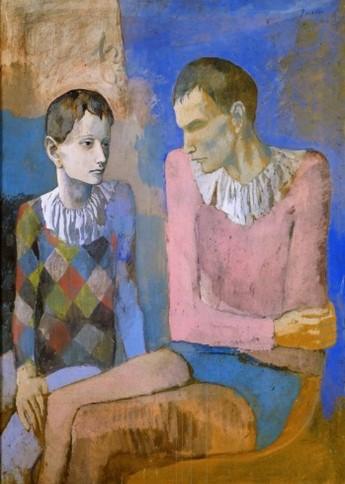 Pablo Picasso - Akrobata és fiatal Harlequin