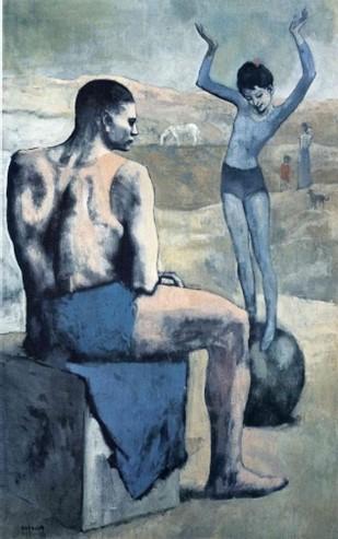 Pablo Picasso - Lány a labdán