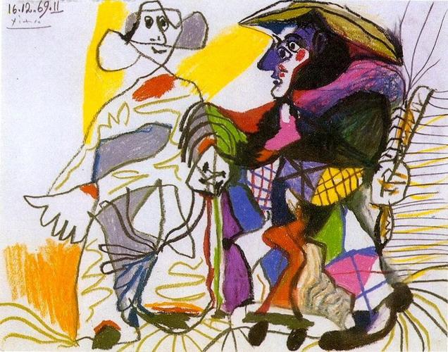 Pablo Picasso Pierrot és Halequin
