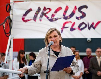 dr. Fabényi Júlia: CIRKUSZ – a Circus Flow kortárs művészeti kiállítás megnyitója