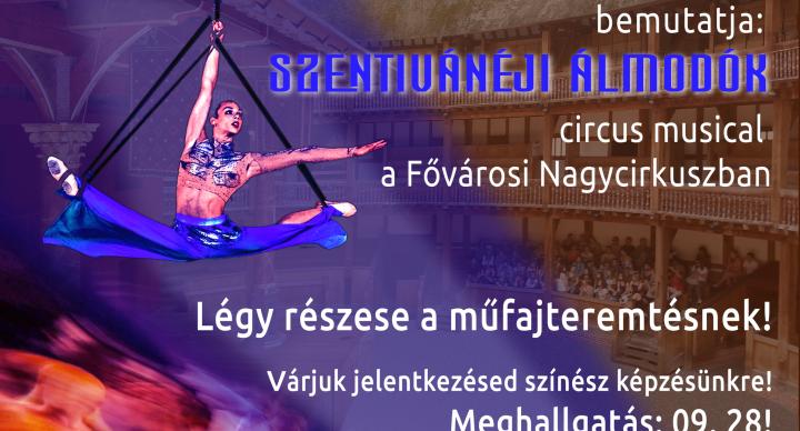 CircusTheatrum, azaz színészképzés másképpen  – Összművészeti produkcióra várja a színésznövendékek jelentkezését a BIAK